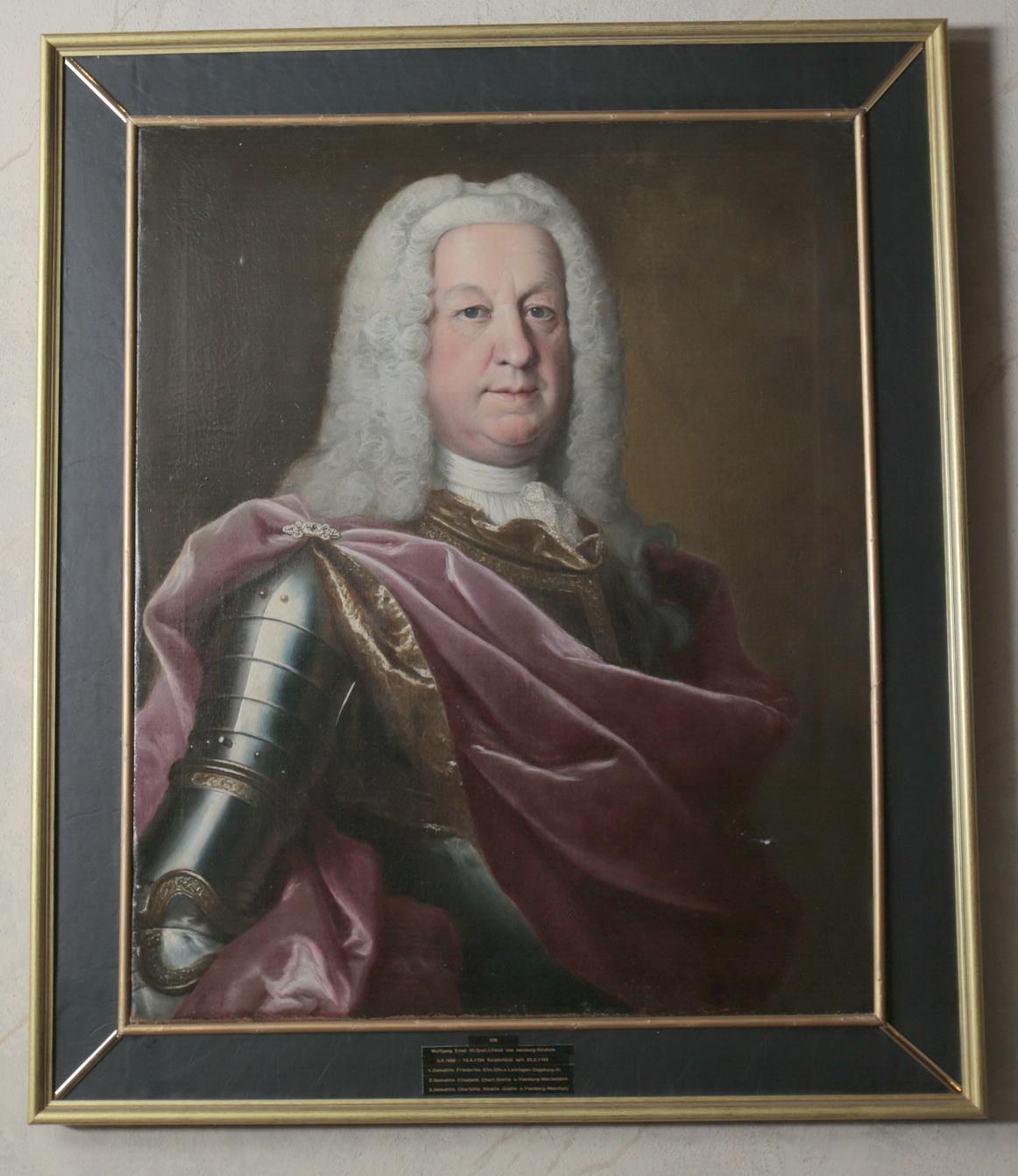 Graf Wolfgang Ernst von Isenburg war ab 1744 der erste Reichsfürst des Isenburger Geschlechts.